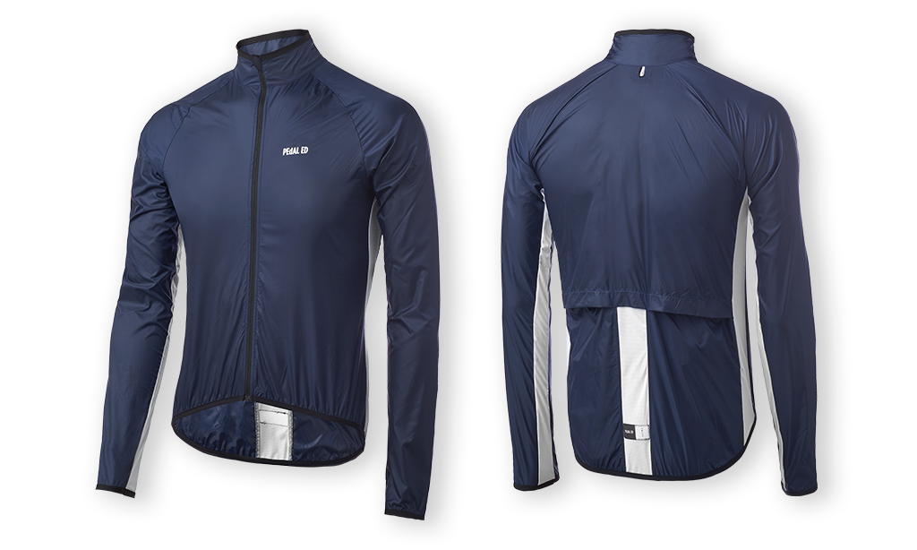 CYCLING JACKET PEdALED VESPER PACKABLE JACKET NAVY