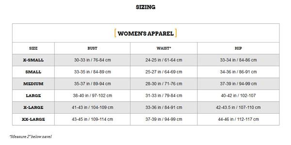 ผลการค้นหารูปภาพสำหรับ zoot women apperel size chart