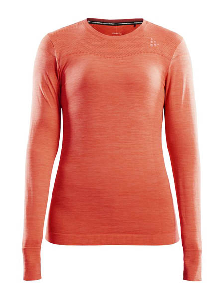 CRAFT FUSEKNIT COMFORT RN LS WOMEN ORANGE