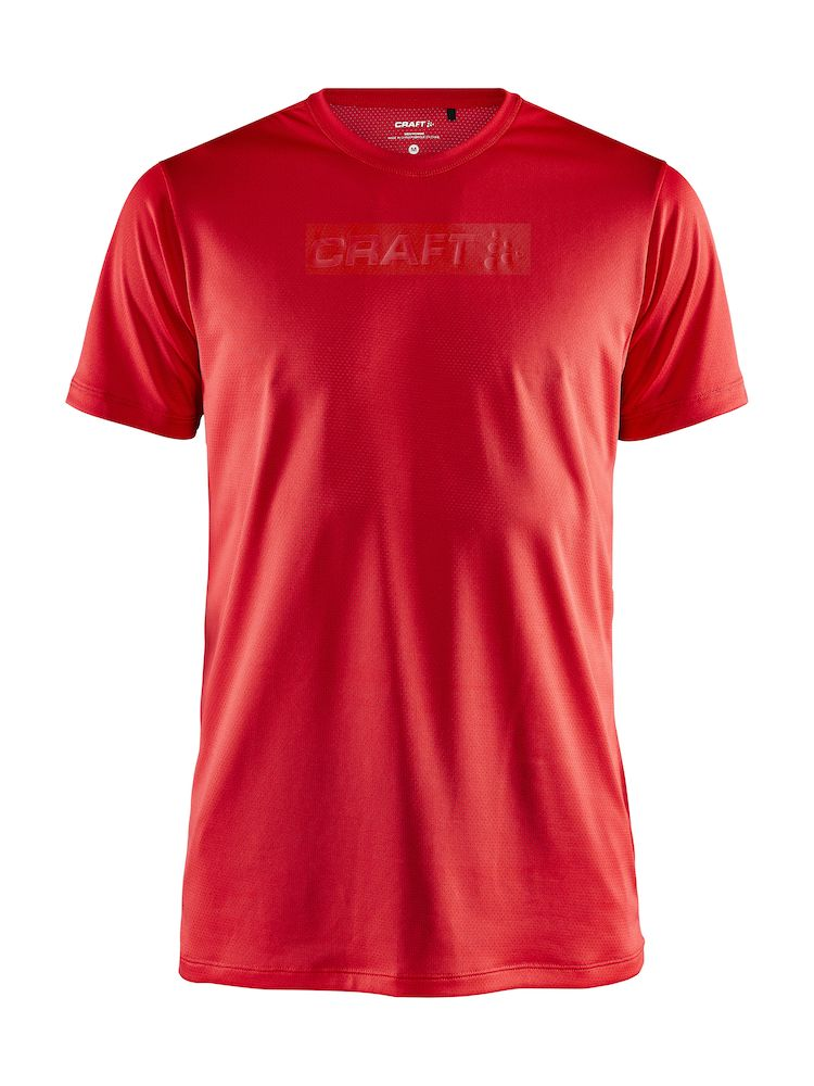 CRAFT CORE ESSENCE SS MESH TEE MAN BRIGHT RED