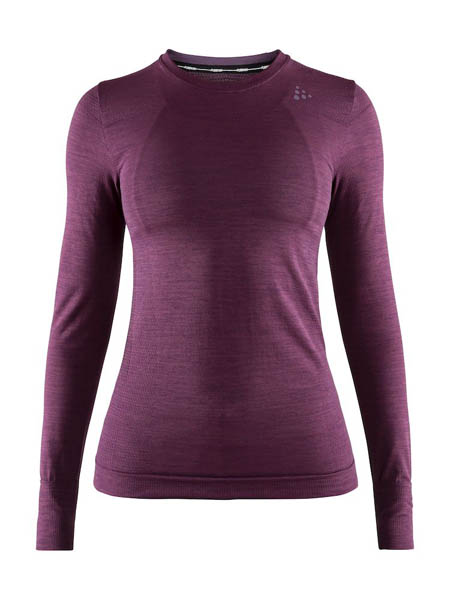 CRAFT FUSEKNIT COMFORT RN LS WOMEN BORDEAUX