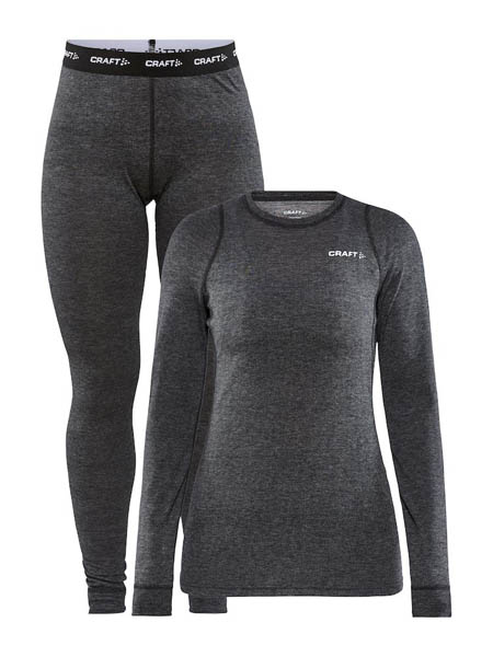 CRAFT CORE WOOL MERINO SET WOMEN BLACK