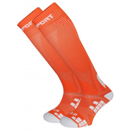 CALZA A COMPRESSIONE MULTISPORT BV SPORT XLR SOCKS ORANGE.jpg