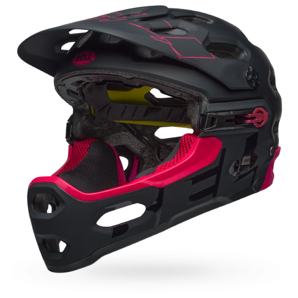 CASCO CICLISMO BELL SUPER 3R MIPS BLACK CHERRY BS158.png