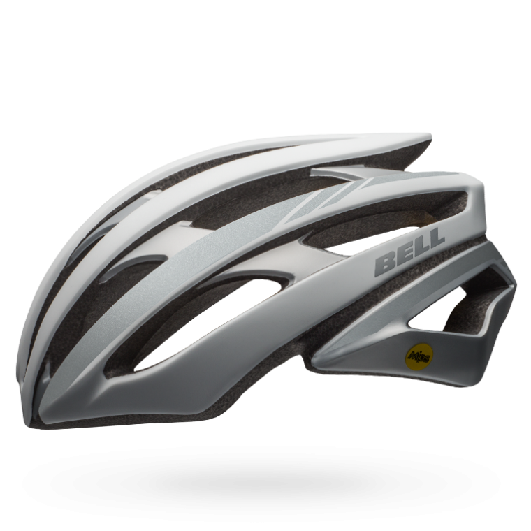 CASCO CICLISMO ROAD BELL STRATUS white with reflective BS.109.png