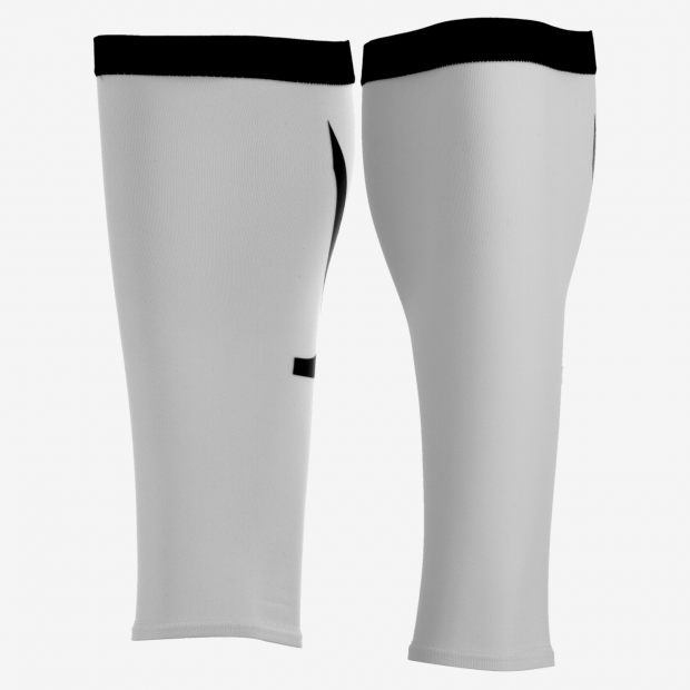 GAMBALI ORCA COMPRESSION CALF SLEEVE WHITE FRONT.jpg