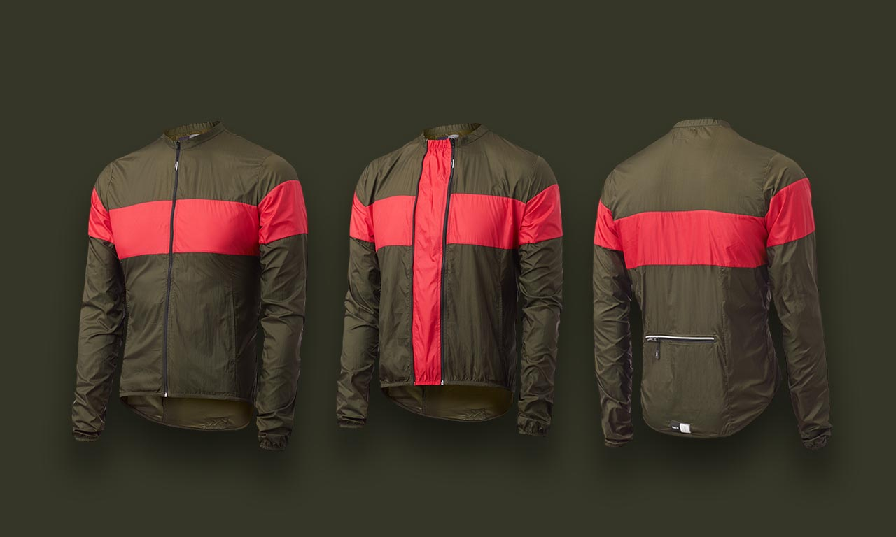GIACCA CICLISMO PEdALED GUFO PACKABLE WINDJACKET MILITARY.jpg