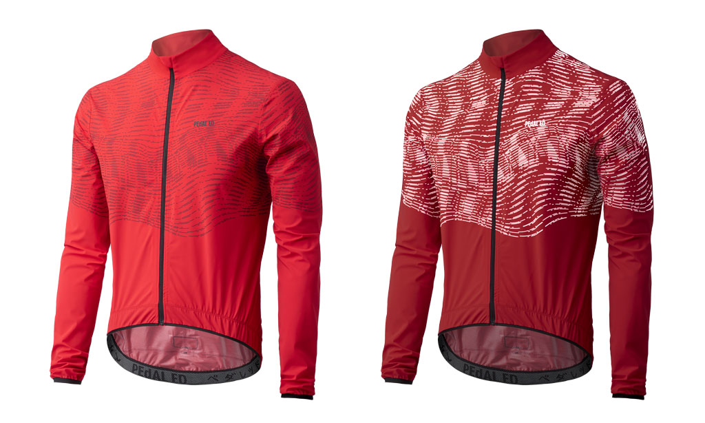 GIACCA CICLISMO PEdALED HIKARI REFLECTIVE SHELL RED.jpg