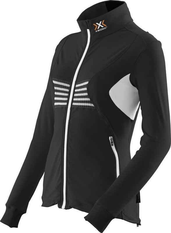 MAGLIA NEVE X-BIONIC SKI LADY RACCOON 2ND LAYER FULL ZIP O100757 BLACK WHITE.jpg