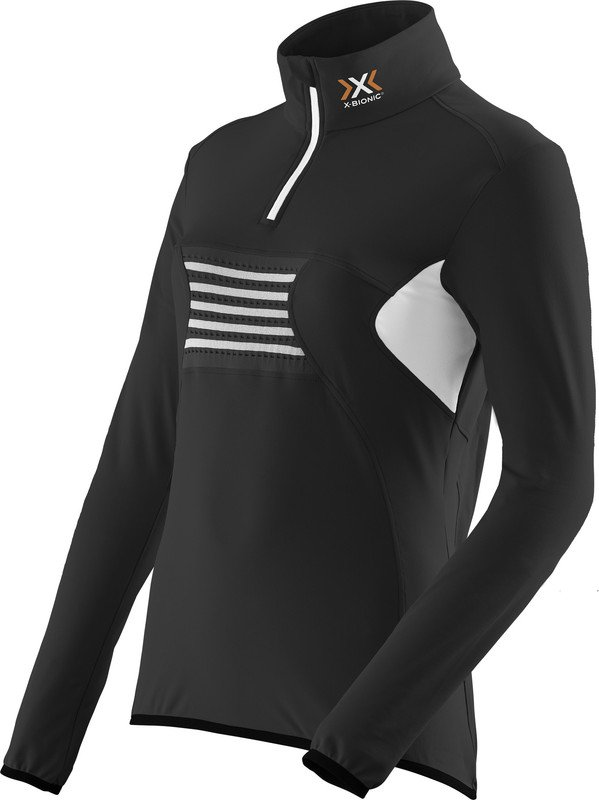 MAGLIA NEVE X-BIONIC SKI LADY RACCOON 2ND LAYER ZIP UP O100755 BLACK WHITE.jpg