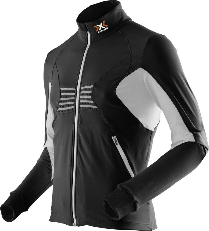MAGLIA NEVE X-BIONIC SKI MAN RACCOON 2ND LAYER FULL ZIP O100756 BLACK WHITE.jpg