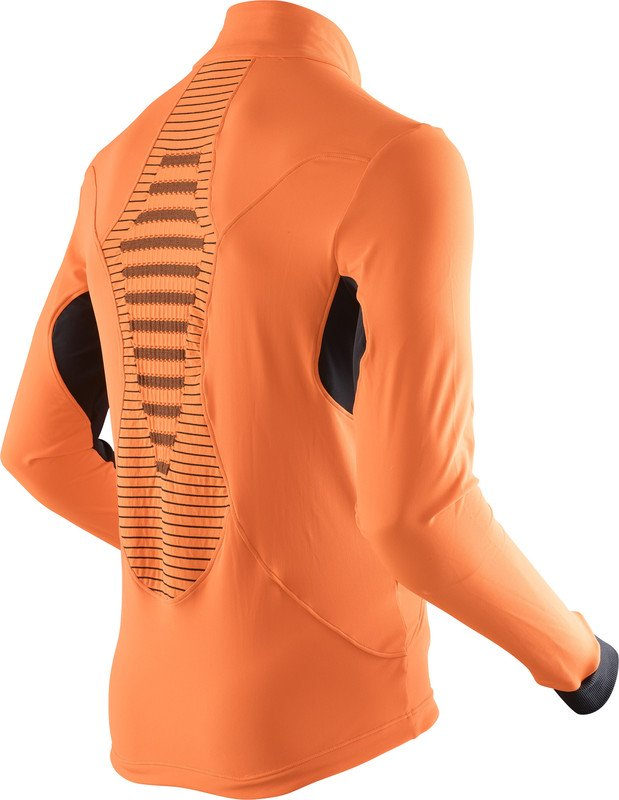 MAGLIA NEVE X-BIONIC SKI MAN RACCOON 2ND LAYER FULL ZIP O100756 ORANGE BLACK.jpg