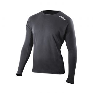 MAGLIA RUNNING 2XU MEN'S TECH VENT LS TOP MR4080A BLK BLK.jpg