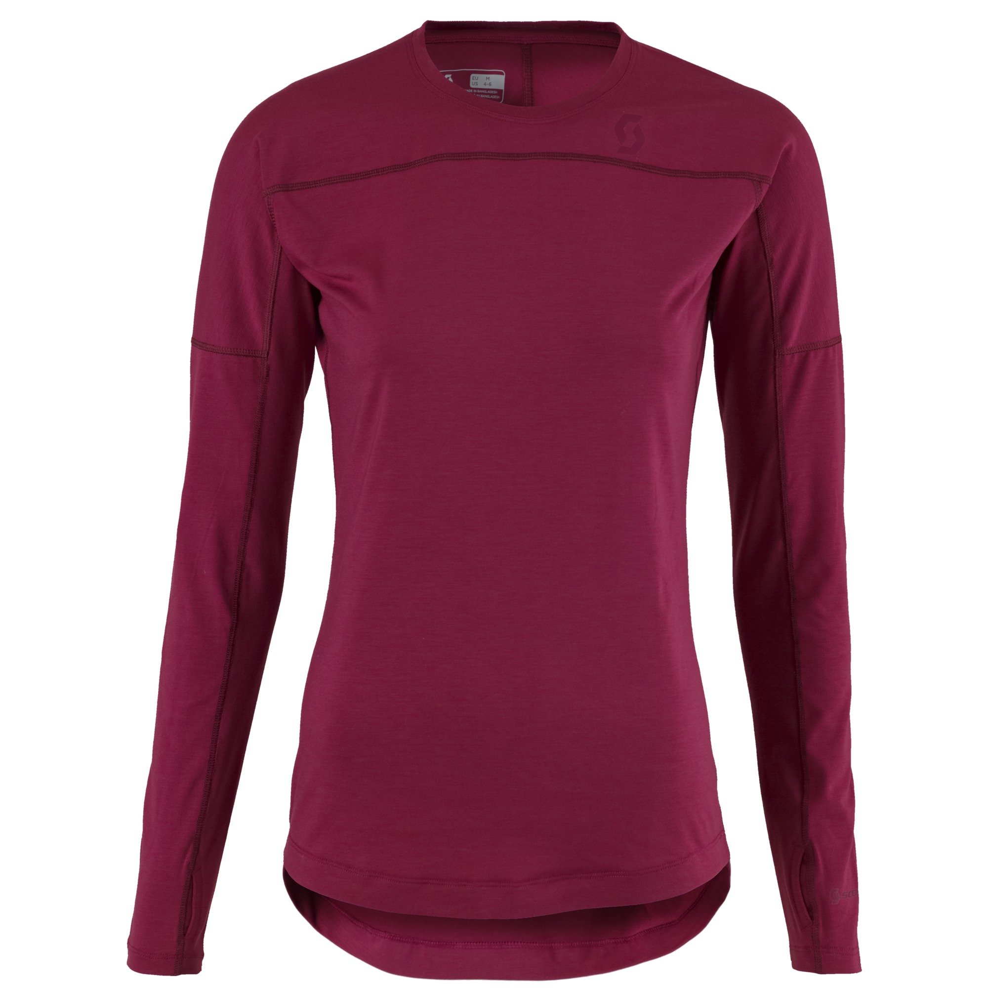 MAGLIA UNDERWEAR SCOTT BASE DRI CREW SHIRT WOMEN 244351 SANGRIA PURPLE70.jpg