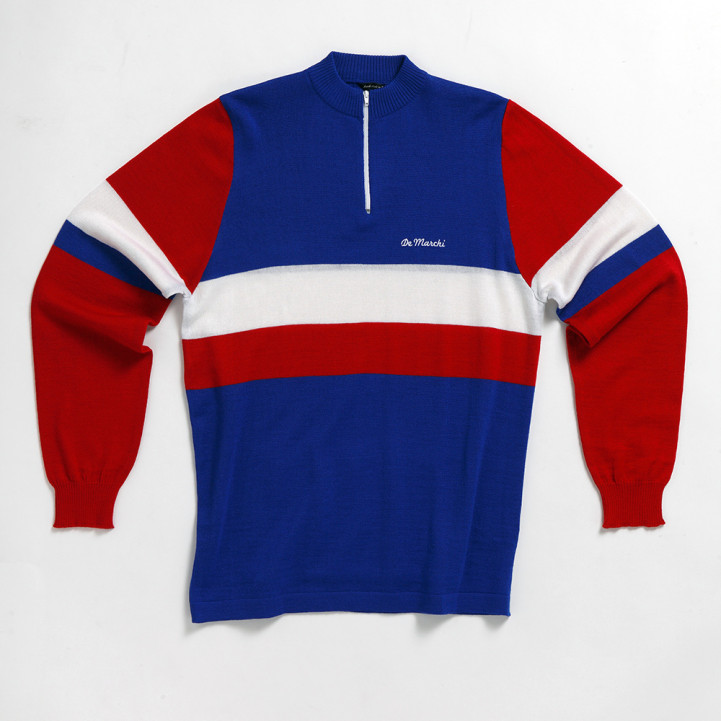 sale retailer 54895 dba43 JERSEY VINTAGE DE MARCHI FRANCE NATIONAL TEAM LONG SLEEVE JERSEY - Vintage  leisure - vintage cycling - Bike - Triathlon wetsuits, clothing, shoes, ...