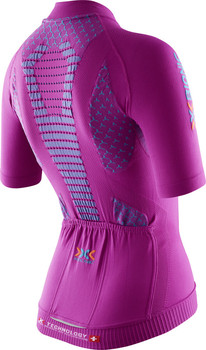 MAGLIA X-BIONIC BIKING LADY TWYCE SHIRT FULL ZIP O100539 VIOLET REAR.jpg