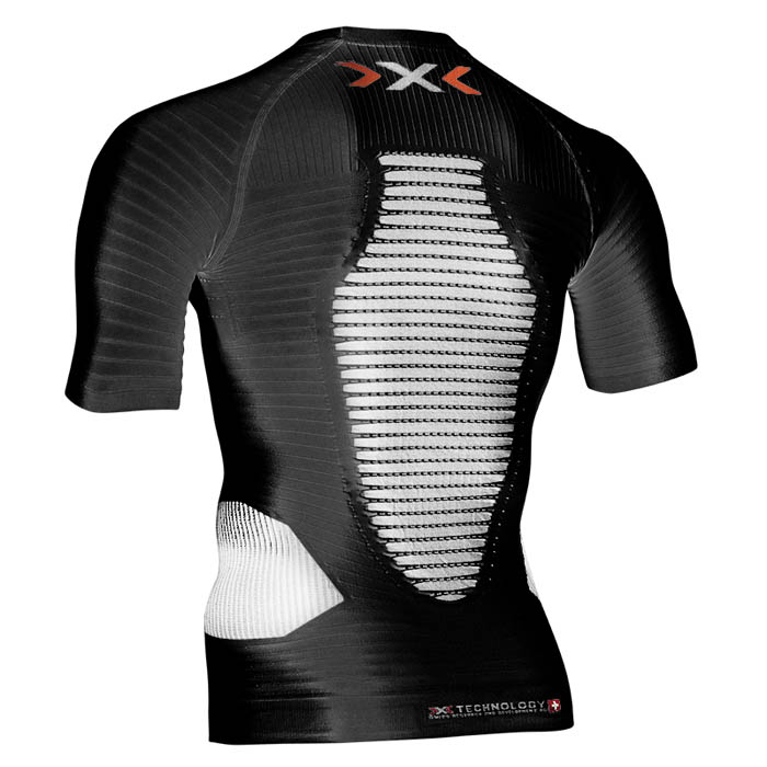 MAGLIA X-BIONIC RUNNING EFFEKTOR POWER SHIRT SHORT O020596 black rear.jpg