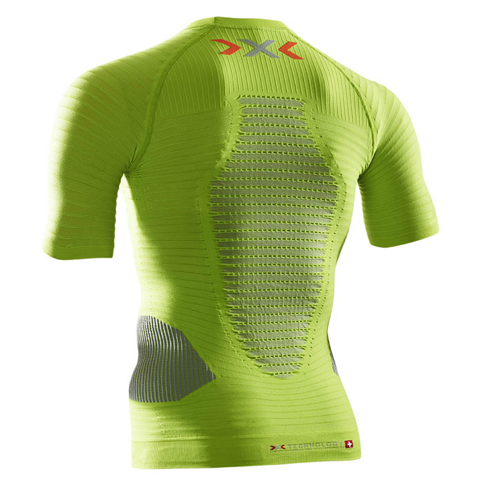 MAGLIA X-BIONIC RUNNING EFFEKTOR POWER SHIRT SHORT O020596 green rear.jpg