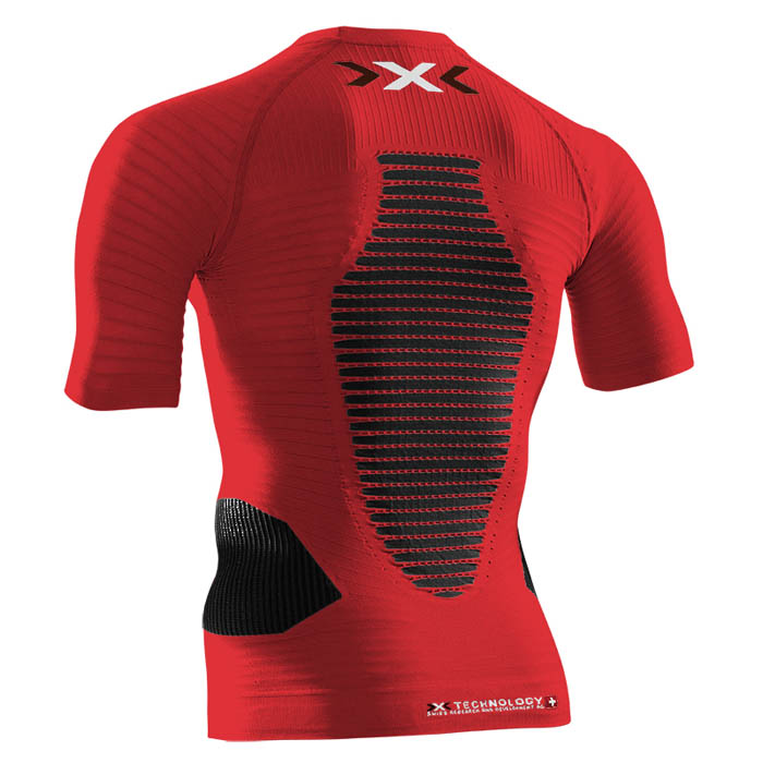 MAGLIA X-BIONIC RUNNING EFFEKTOR POWER SHIRT SHORT O020596 red rear.jpg