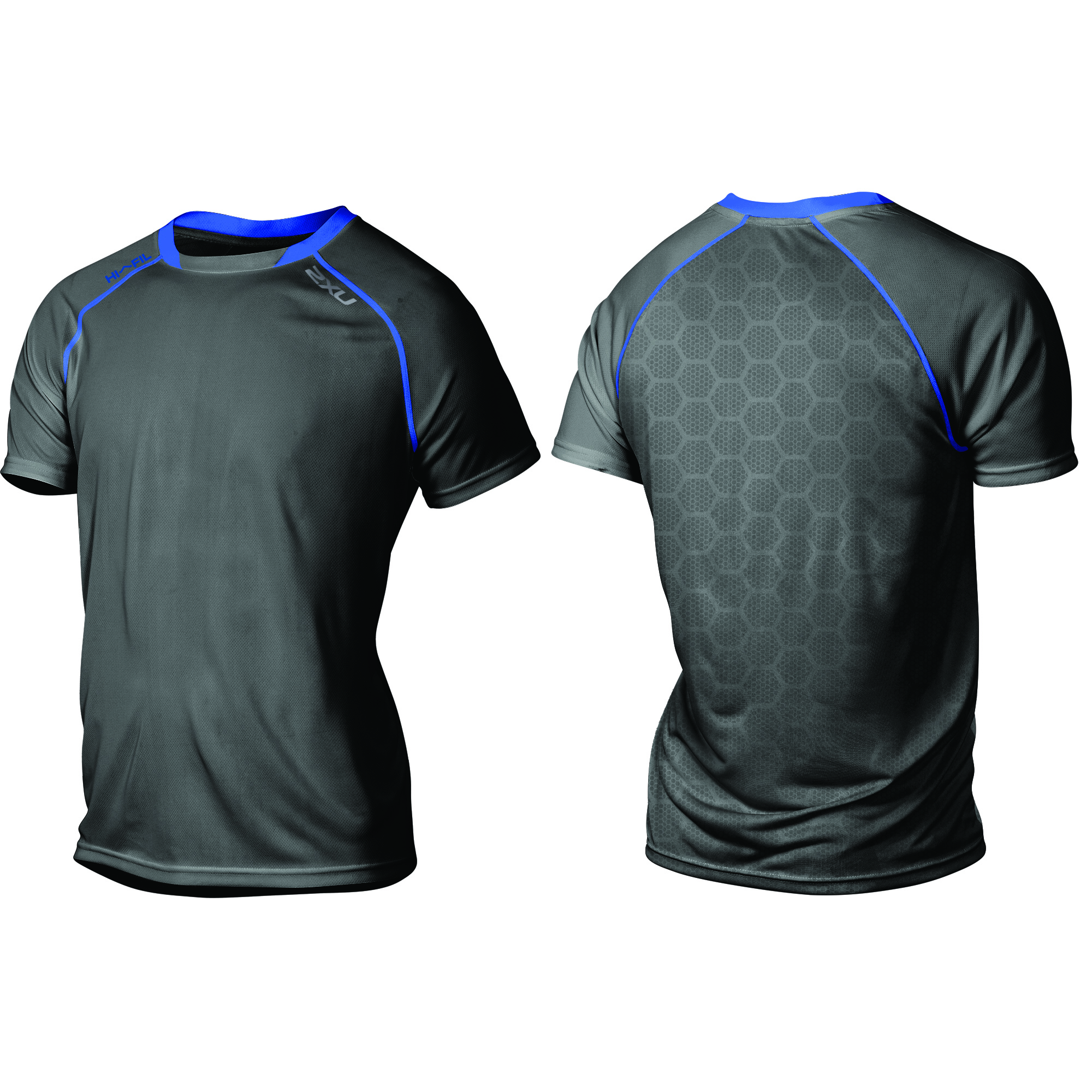 MAGLIA RUNNING 2XU TECH VENT S/S TOP MR3752A ink cobalt blue