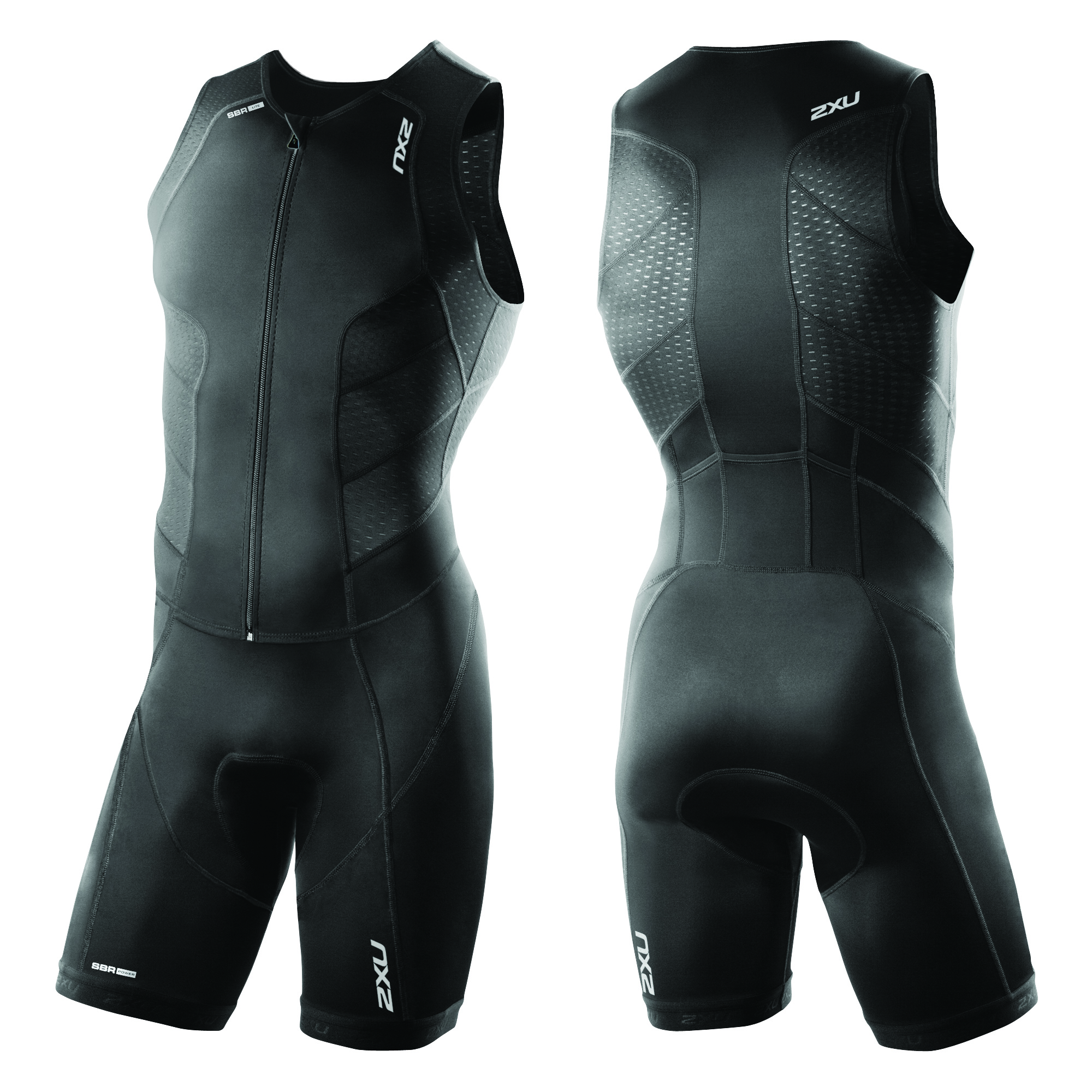 BODY TRIATHLON 2XU PERFORM FULL FRONT ZIP MEN'S TRISUIT MT3859D black black