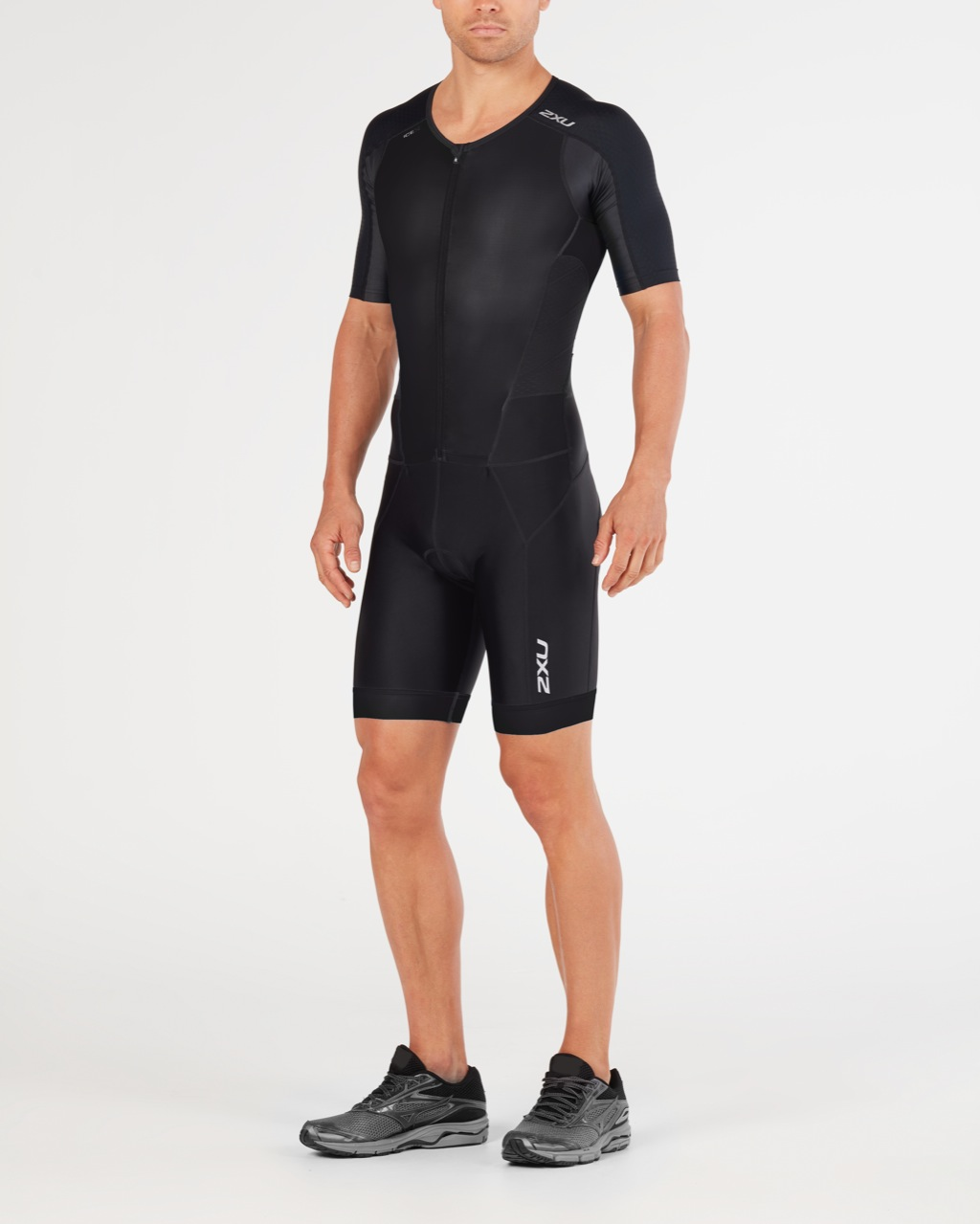 BODY 2XU MEN'S PERFORM FULL ZIP SLEEVED TRISUIT MT4847d black black.jpg