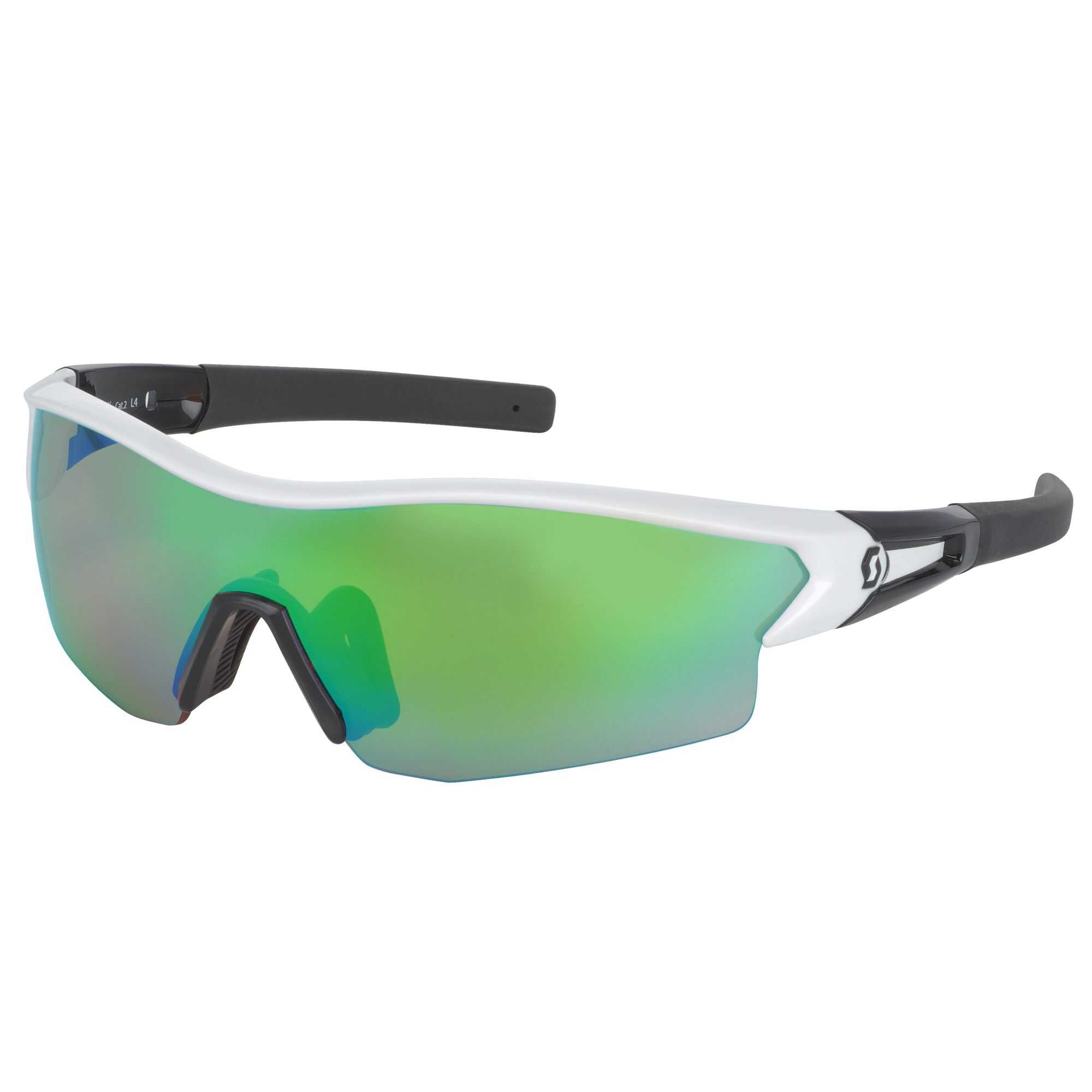 OCCHIALE SPORTIVO SCOTT LEAP SUNGLASSES 238999 WHITE GLOSSY BLACK GREEN.jpg