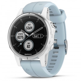 OROLOGIO GPS GARMIN FENIX 5S PLUS GLASS 010-01987-23 white seafoam.jpg