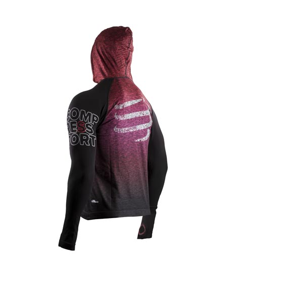 COMPRESSPORT Seamless Hoodie - SwimBikeRun 2017 - Red_BACK.jpg
