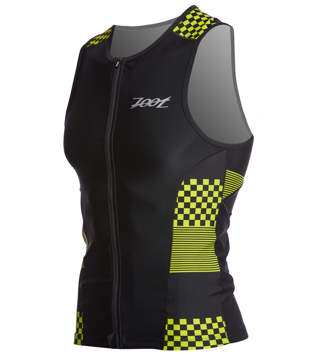 TOP TRIATHLON ZOOT MEN PERFORMANCE TRI FULL-ZIP TANK  26B3003 VOLT CHECKERS.jpg