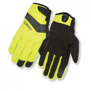 guanti ciclismo invernali GIRO AMBIENT yellow black GR799