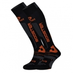 CALZA DA SCI BV SPORT SLIDE ELITE COMPRESSIONE EVOLUTION SOCKS black orange.jpg