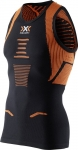 CANOTTA RUNNING XBIONIC THE TRICK RUNNING SINGLET O100267 MEN BLACK ORANGE SHINY.jpg