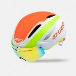 CASCO CICLISMO GIRO AIR ATTACK SHIELD MATTE WHITE LIME FLAME GR105.jpg