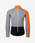 MAGLIA CICLISMO POC ESSENTIAL ROAD MID LS JERSEY 58210 grey orange