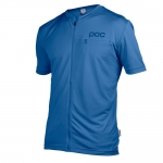 MAGLIA CICLISMO POC TRAIL LIGHT ZIP TEE 52155 STIBNITE BLUE.jpg