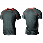MAGLIA RUNNING 2XU TECH VENT S/S TOP MR3752A ink desert red