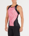 CANOTTA TRIATHLON DONNA 2XU WOMEN'S PERFORM TRI SINGLET WT4857d BLACK PINK.jpg