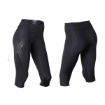 PANTALONI 2XU WOMEN'S MID RISE COMPRESSION 3/4 TIGHTS WA2865B BLK SRF
