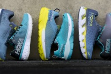 HOKA ONE ONE and the shoes of the FLY collection: CAVU, ELEVON, MACH