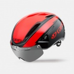 CYCLING HELMET GIRO AIR ATTACK SHIELD BRIGHT RED BLACK GR122