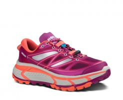 TRAIL RUNNING SHOE HOKA MAFATE SPEED WOMEN CORAL ASTER/NEON